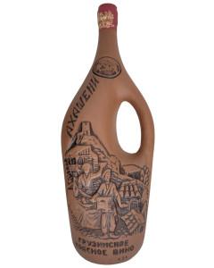 D.Akhasheni Red Wine Clay Bottle