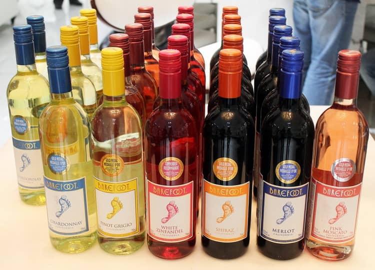Varieties of California wine